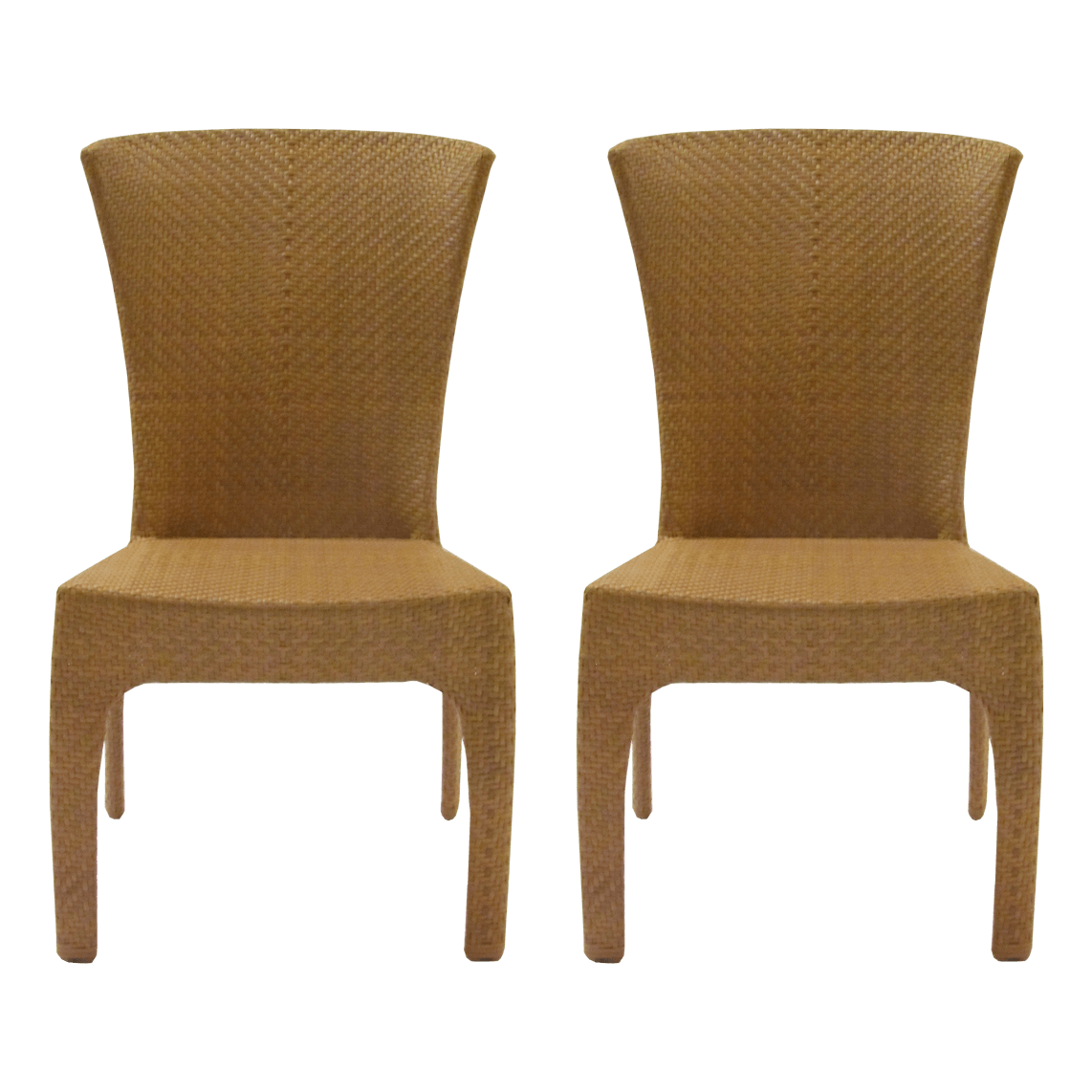 Grange St Tropez Natural Woven Small Side Chairs