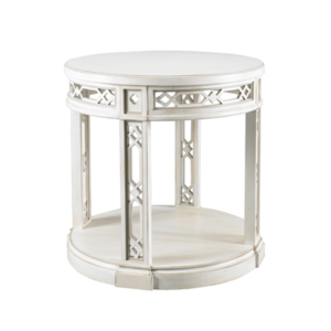 Fretwork Side Table by Sherrill